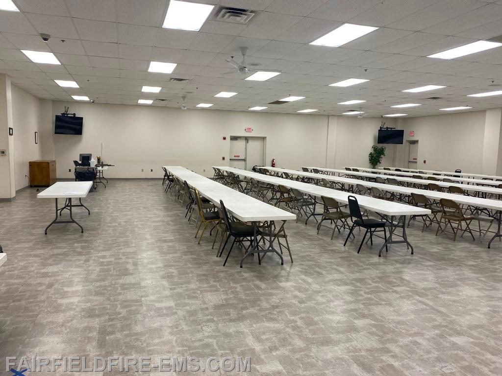 Large hall at Fairfield Fire Department